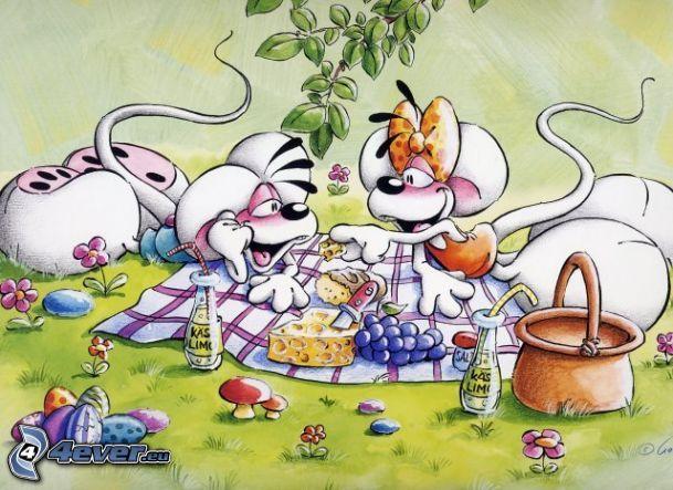 Diddl und Diddlina, Picknick