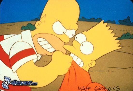 Die Simpsons, Homer Simpson, Bart Simpson