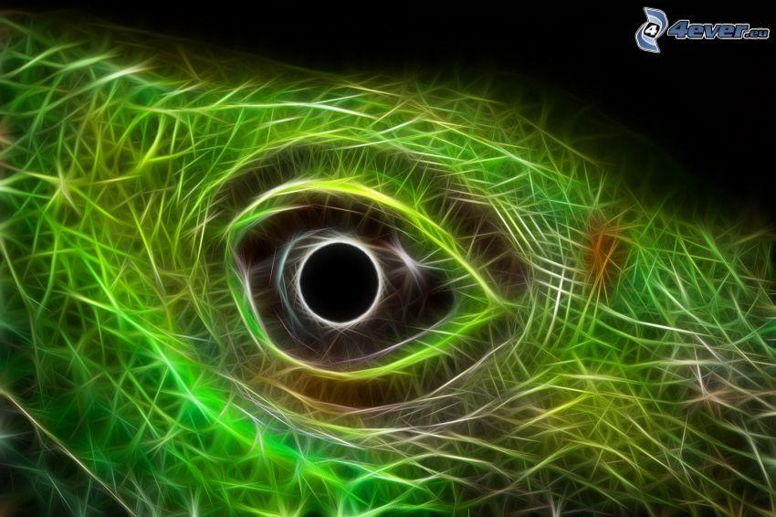Auge, Fractal Tiere