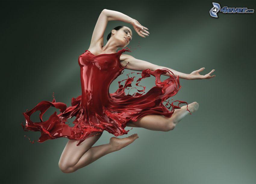 Ballerina, rote Farbe