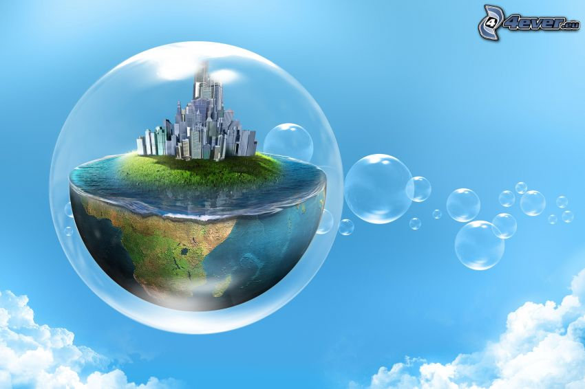 Blasen, Welt, Himmel