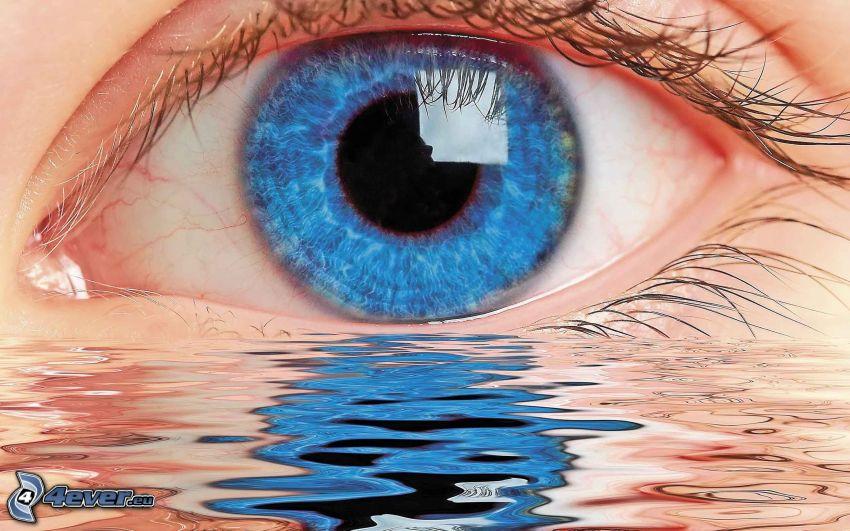 blau auge, Wasser