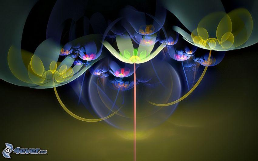 digitale Blumen