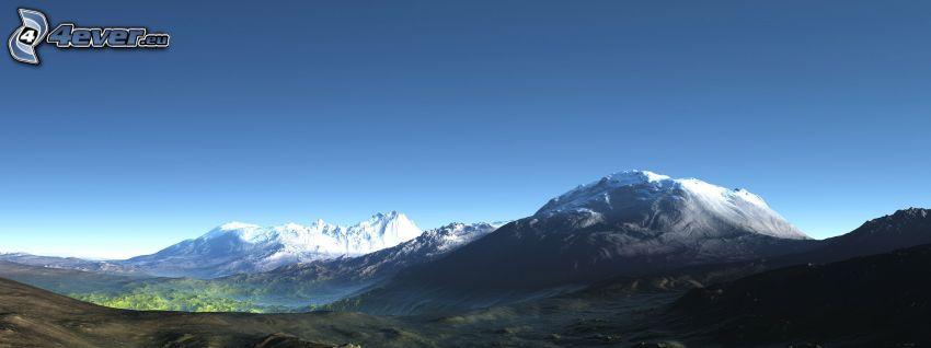 digitale Landschaft, Berge