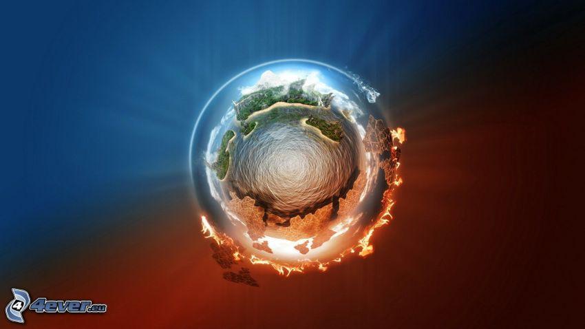 Erde, Glut