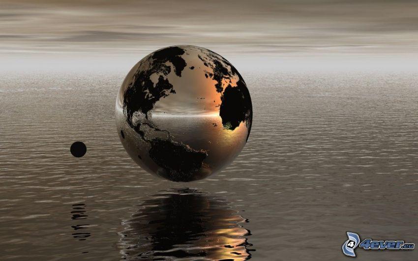 Erde, Mond, Meer