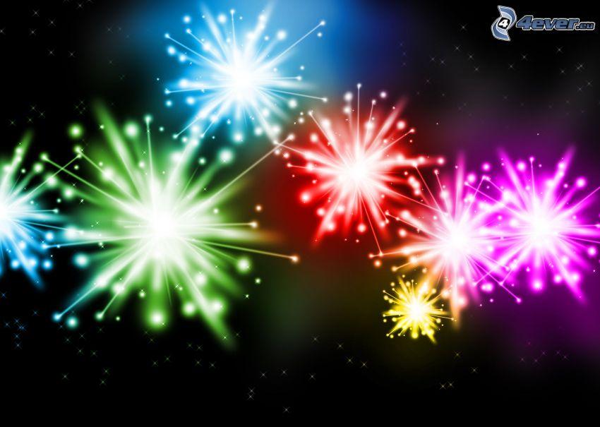 Feuerwerk, Sterne