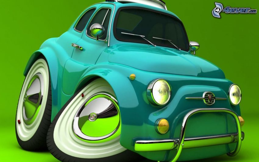 Fiat, digitale Kunst, 3D