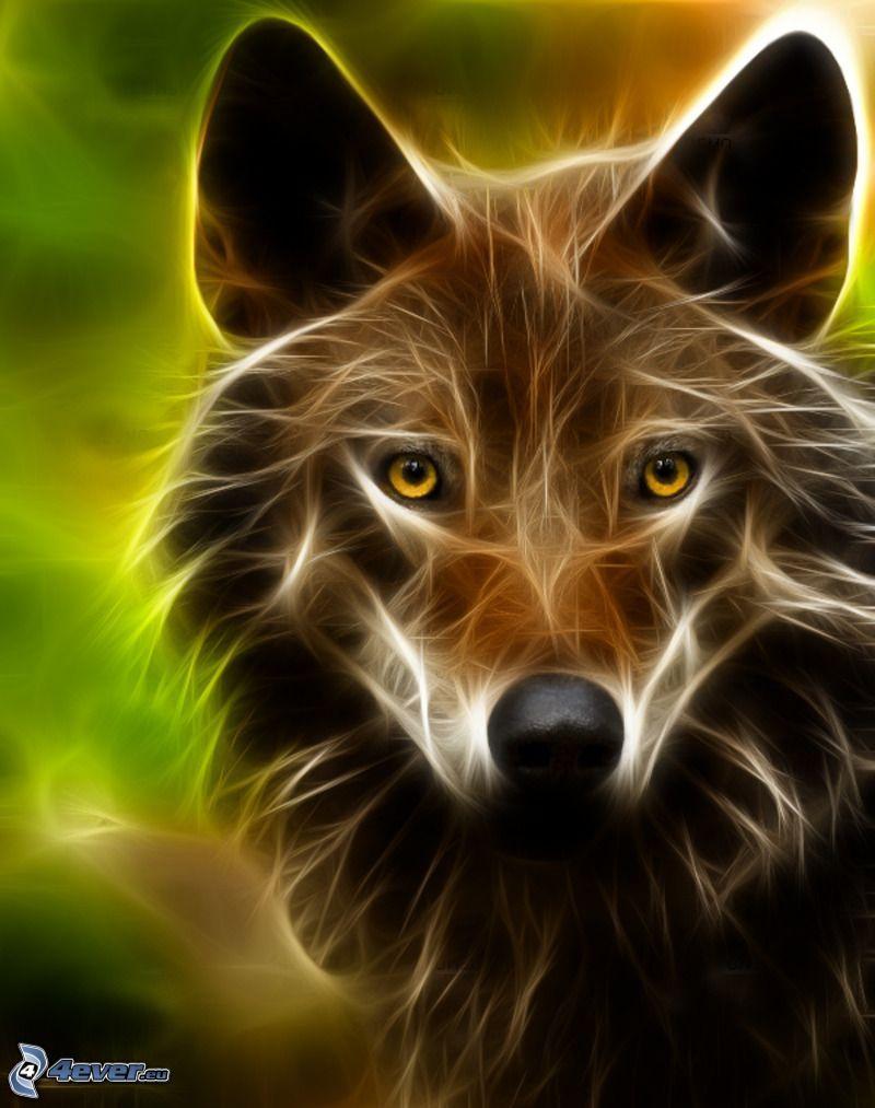 fractaler Wolf, Fractal Tiere