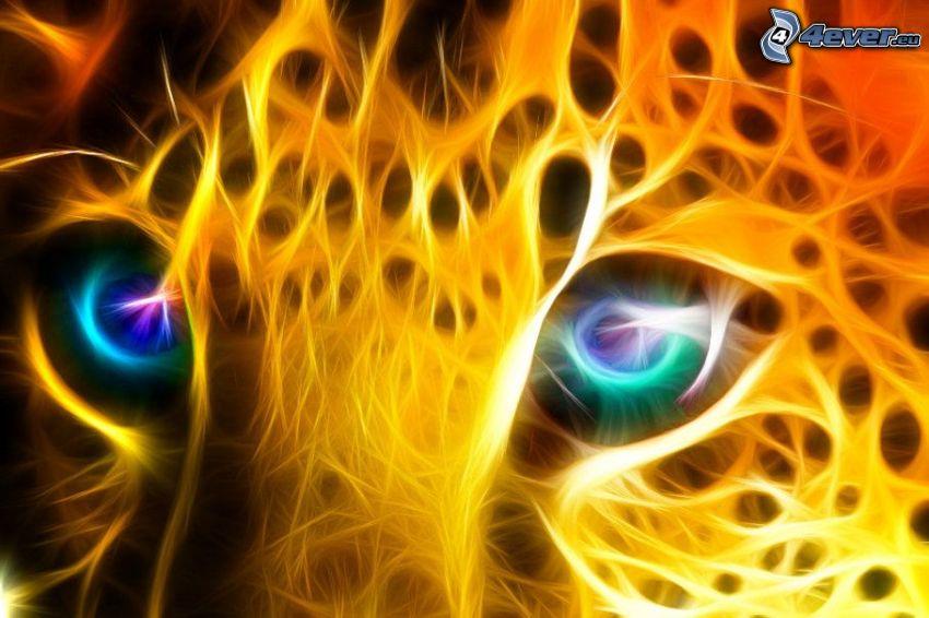 fraktal Leopard, Augen