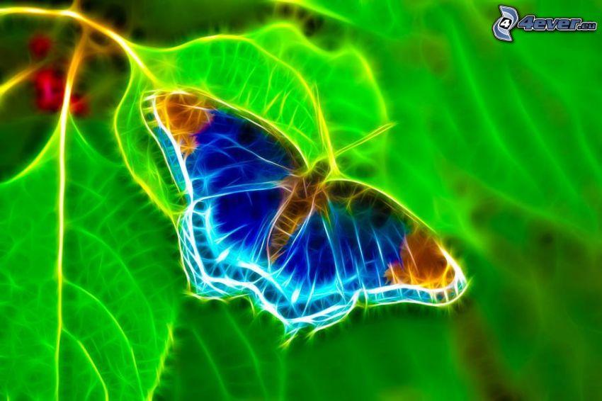 fraktale Schmetterling