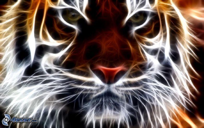 fraktaler Tiger, Fractal Tiere
