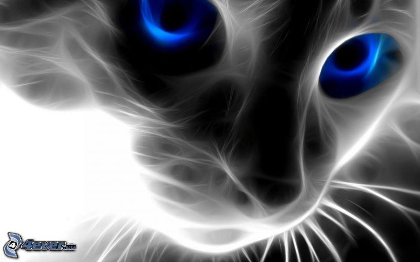 Gesicht der Katze, Fraktale Katze