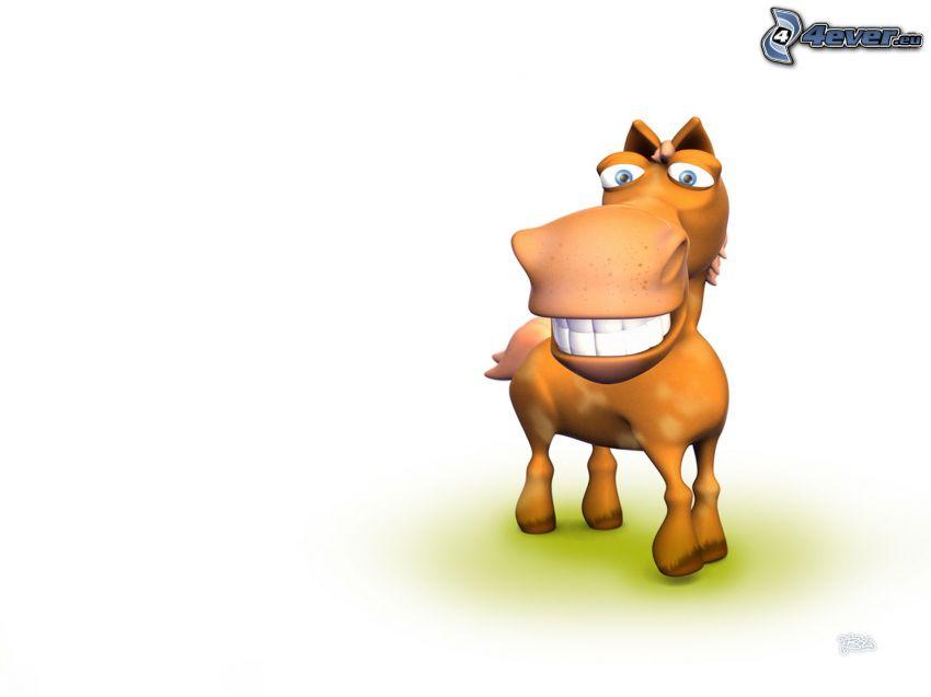 gezeichnetes Pferd, Lächeln