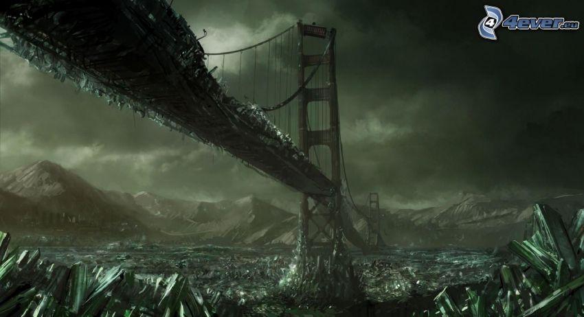 Golden Gate, zerstörte Brücke