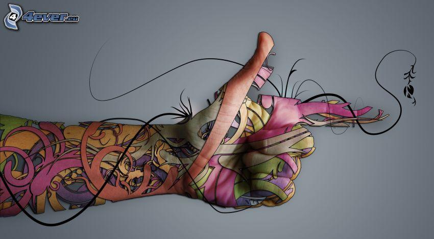 Hand, Ornamente