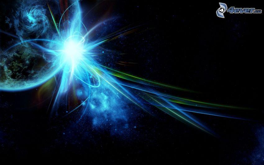kosmische Explosion, Glut, Planet