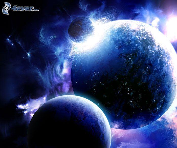 kosmischer Zusammenstoß, Sci-fi