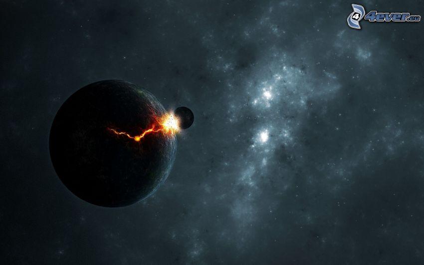 kosmischer Zusammenstoß