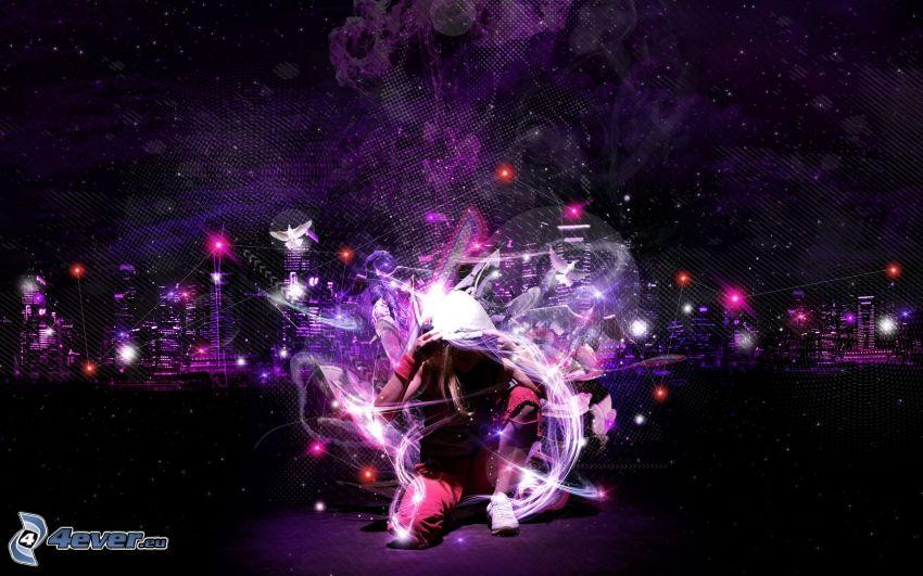 Lichteffekte, Tänzerin