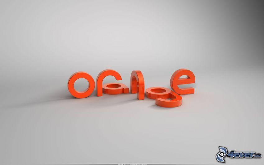 Orange, Buchstaben