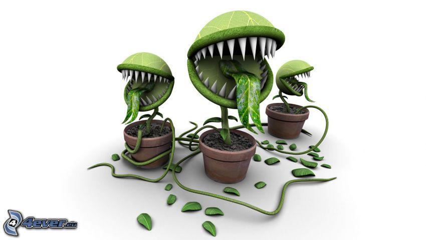 Pflanzen, fleischfressende Pflanze, Ungeheuer