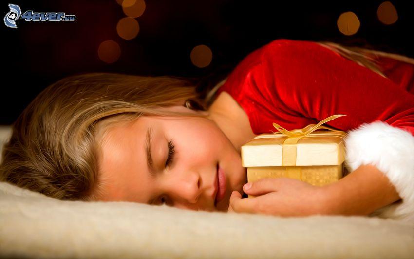 schlafendes Baby, Geschenk