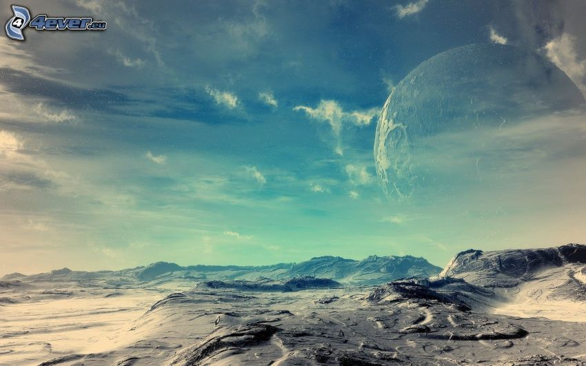 Sci-fi Landschaft, Planet