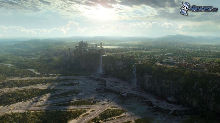 Sci-fi Stadt, Klippe