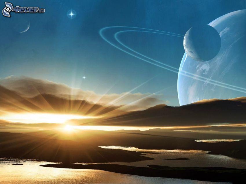 Seen, Sonne, Planeten