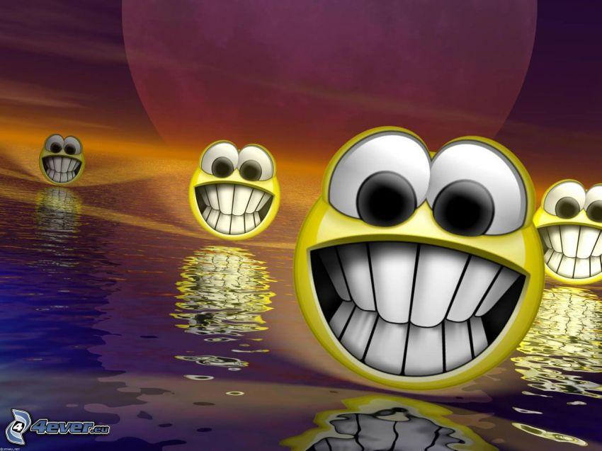 smileys, Wasser