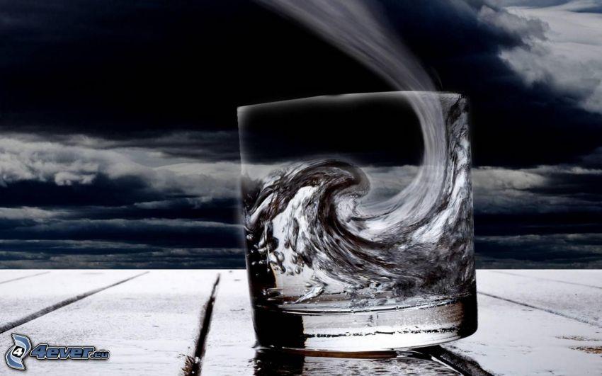 Tasse, Welle, Wolken