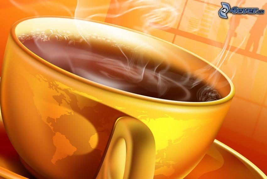 Tasse Kaffee, Welt