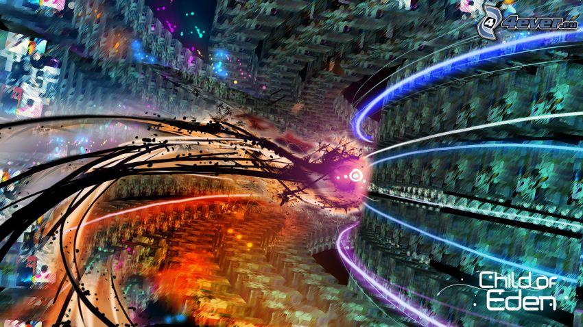 Tunnel, abstrakte Lichter