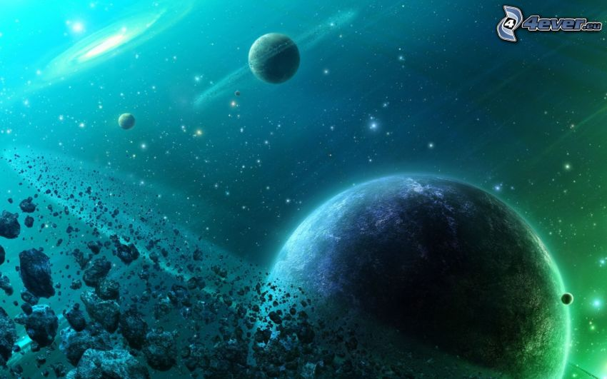 Universum, Asteroidengürtel, Planeten