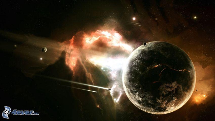 Universum, Planeten, Nebel