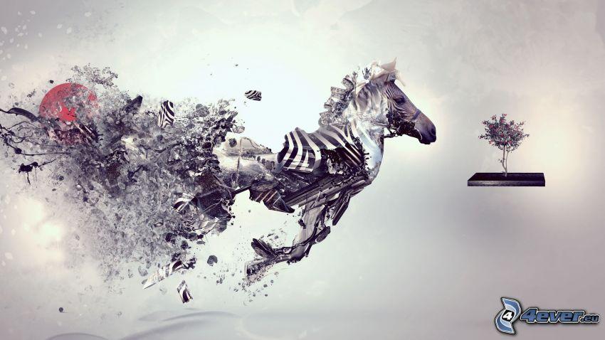 Zebra, Baum
