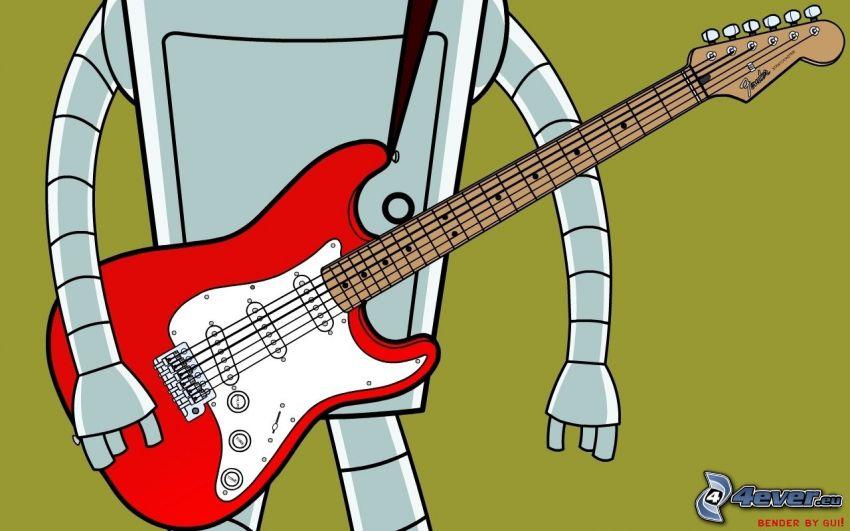 e-gitarre, Robot, Futurama