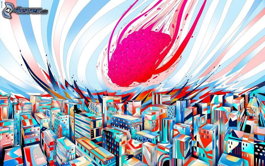 eingezeichnete Stadt, Gehirn