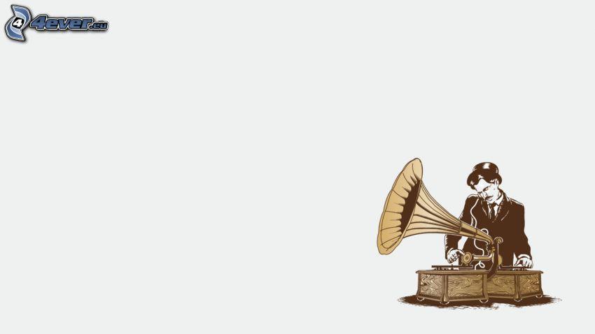 eingezeichneter Kerl, Grammophon