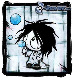 emo boy, Cartoon