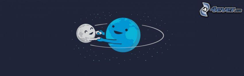Erde und Mond, Planeten