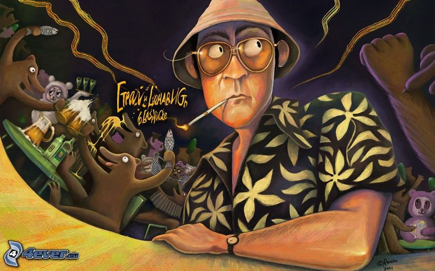 Fear and Loathing in Las Vegas, eingezeichneter Kerl