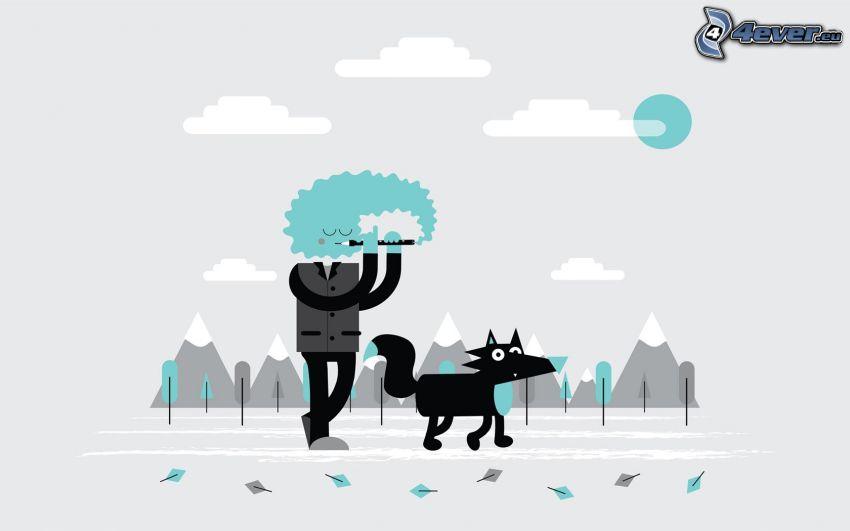 Figürchen, Hund, Berge