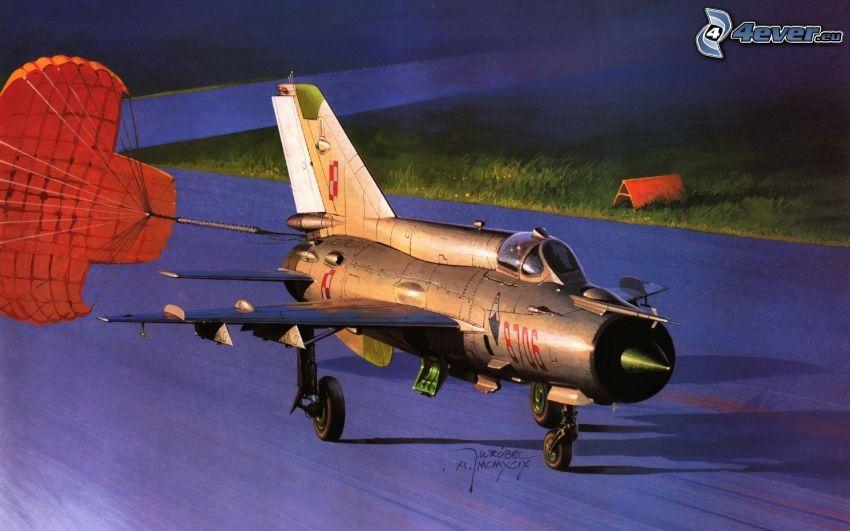 Flugzeug, Fallschirm