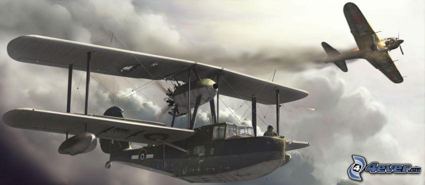Flugzeuge, Wolken