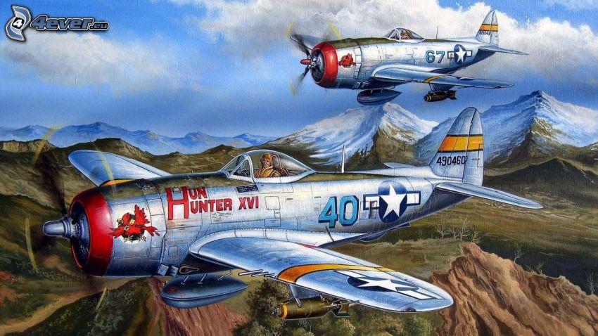 Flugzeuge, Zeichnung