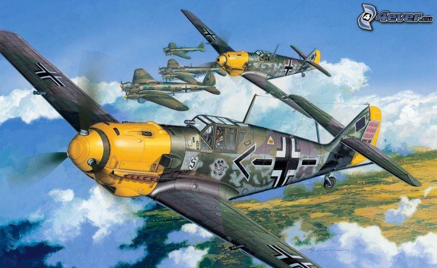 Flugzeuge, Zweiter Weltkrieg