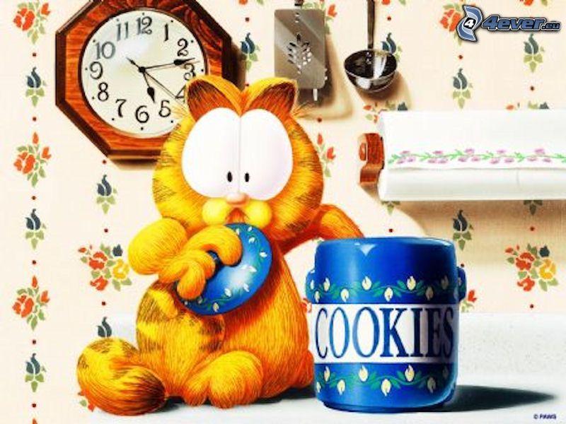 Garfield, cookies, Cartoon
