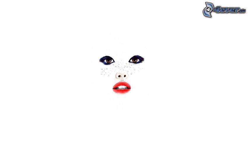Gesicht, Augen, Lippen